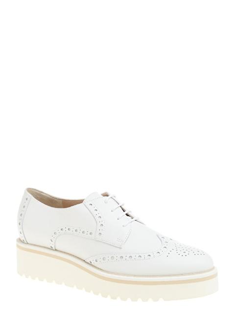 Divarese Deri Oxford Ayakkabı Beyaz